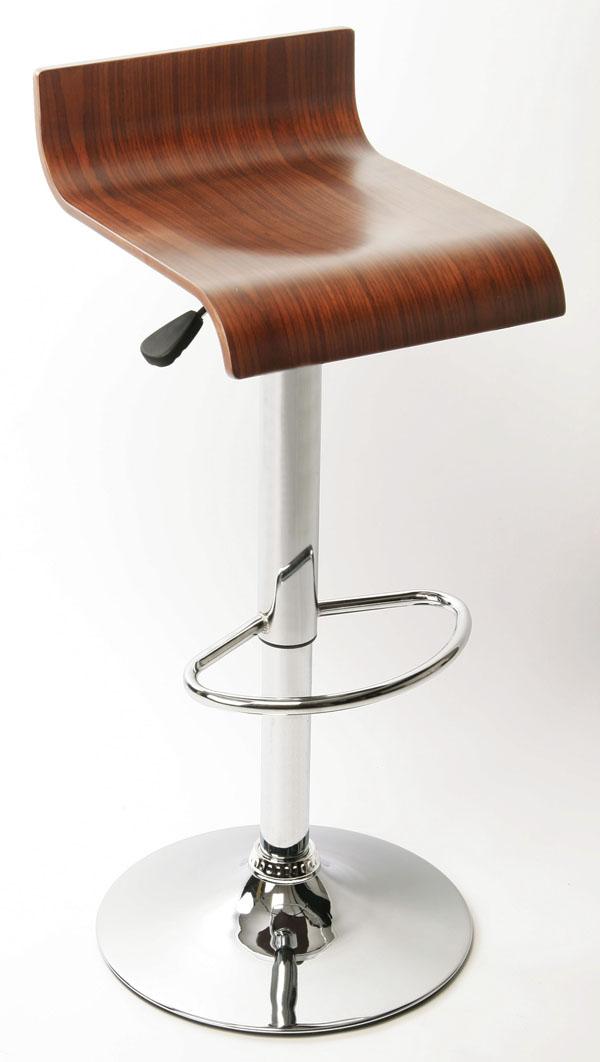 holz design barhocker barstuhl lounge chrome neu ebay. Black Bedroom Furniture Sets. Home Design Ideas