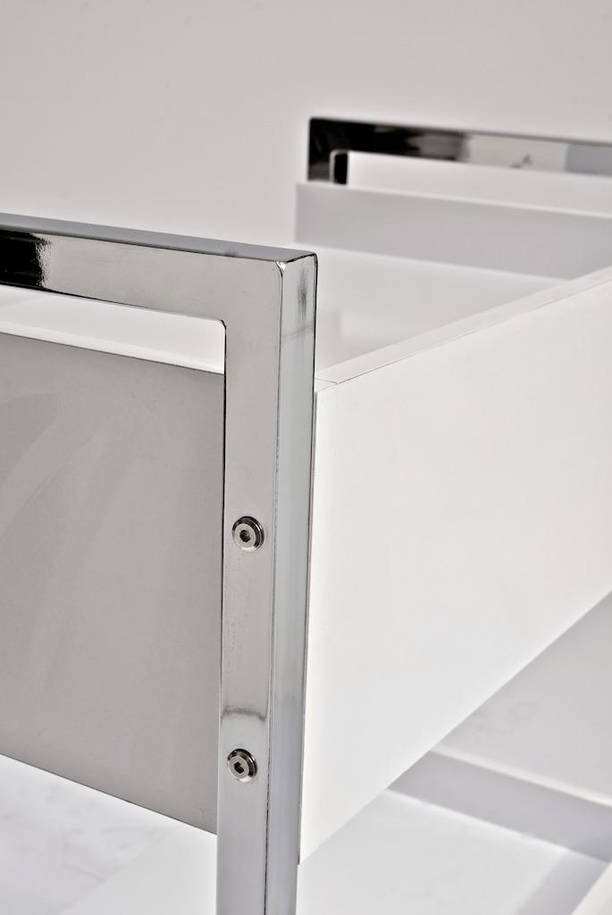 luxus ger tewagen wei arbeitshocker neu beistelltisch kosmetikstudio rollwagen ebay. Black Bedroom Furniture Sets. Home Design Ideas